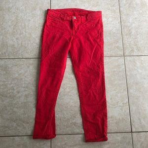 J Brand Capri Pants Bright Red Size 26 Style #935